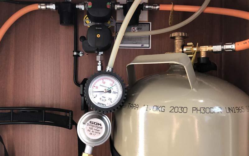 Gasprüfung für Wohnwagen und Wohnmobil